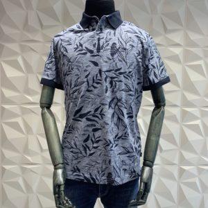 JOOP! Polo Shirt gemustert blau