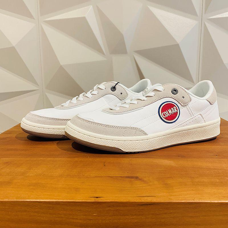Weiße Stoff Sneaker